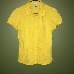 Petite Yellow Worthington blouse